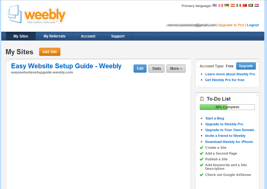 Create a Free Weebly Account and Make a Free Website - Easy Free Website